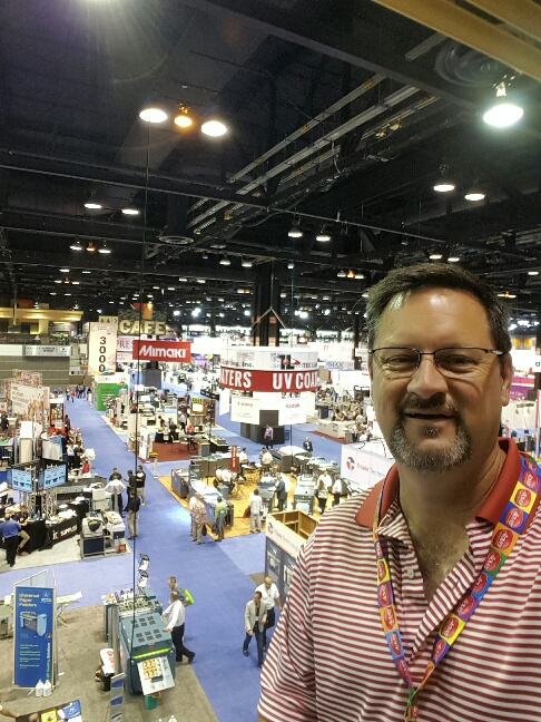 Ken Ballard at GraphExpo 2015 in Chicago.