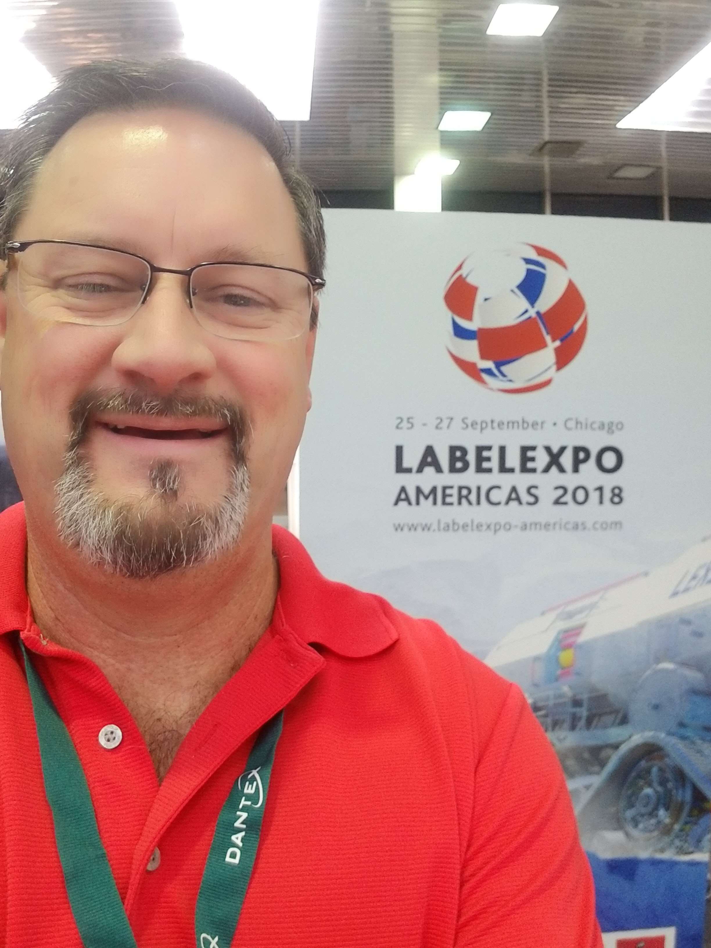 Ken Ballard at Label Expo Americas 2018.
